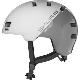 ABUS Skurb ACE Helmet, blanco/Plateado